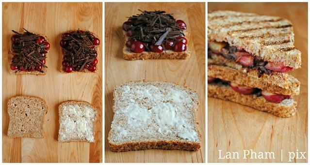 cherry + chocoalte panini
