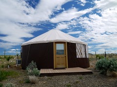 Our Yurt at Cave B Inn