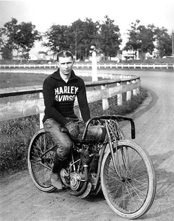 Motorcycle racer, 1919