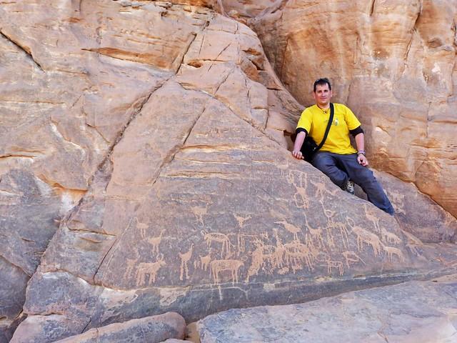 Arte rupestre en Jebel Uweinat (Desierto Líbico, Egipto)