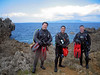 Scuba Diving Okinawa Apr 2014, Deep Specialty, Deep Divers posing at Toilet Bowl