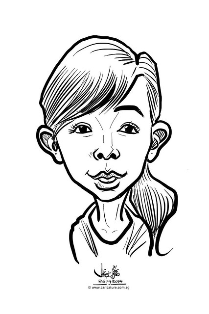 digital live caricature sketching for National Heart Centre Singapore -17