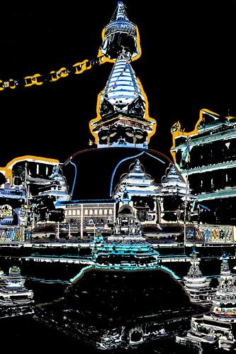 Nepal - Kathmandu - Buddhist Temple - 53b