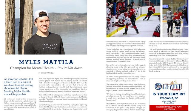 Mint - Kelowna - Story on Myles Mattila - May 2016
