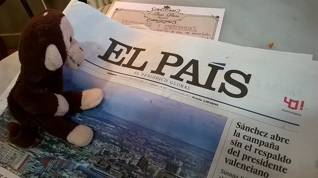 George Keeps Up on Current Events in Spain