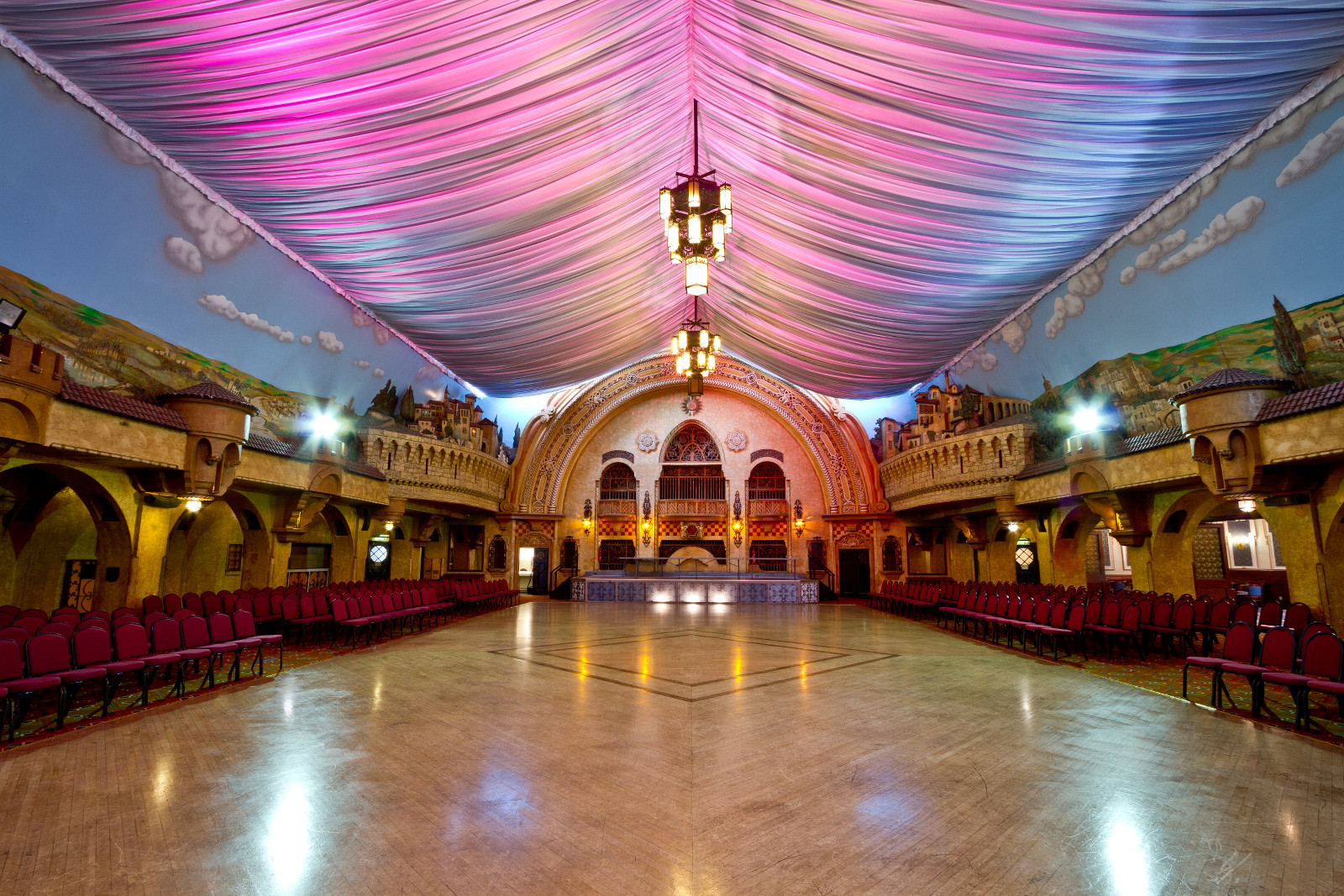 Spanish Hall inside the Winter Gardens, Blackpool, Lancashire, England
