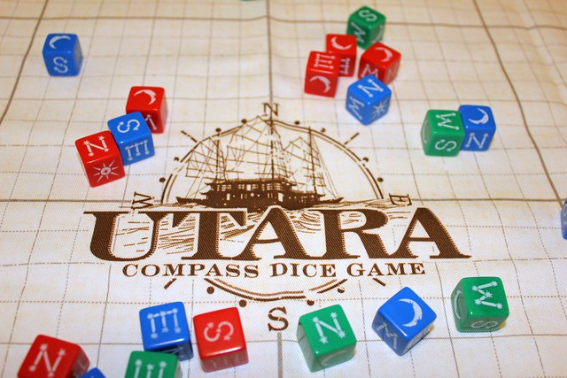 Utara Prototype Play Mat from Dragon Chow Dice Bags