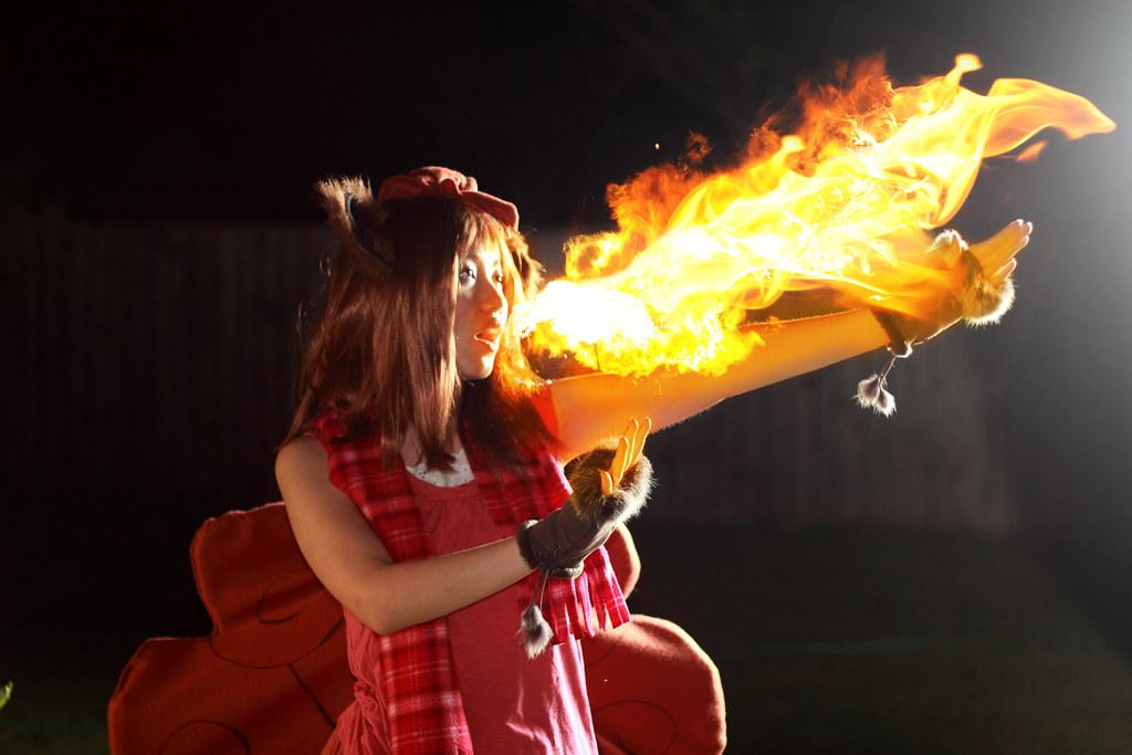 Vulpix Used Flamethrower