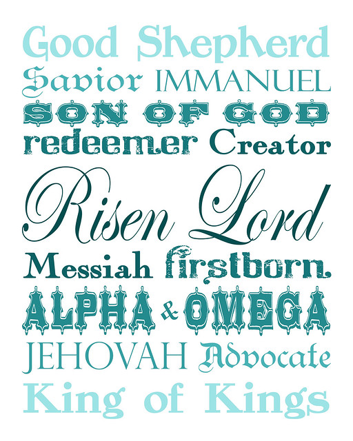 Names of Christ - teal