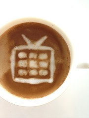 Today's latte, Google TV.