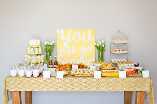 you are my sunshine: caroline's first birthday party