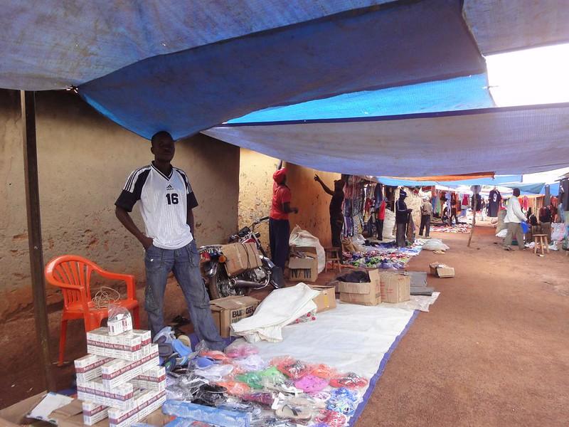 Mercado em Faradje na RDC