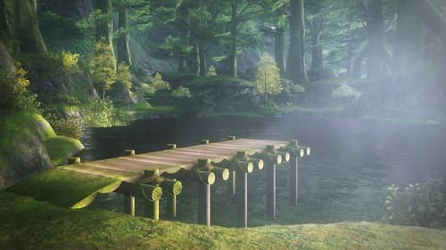根渡り沼と桟橋