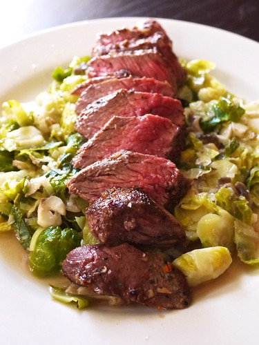 Steak and Brussels Sprouts