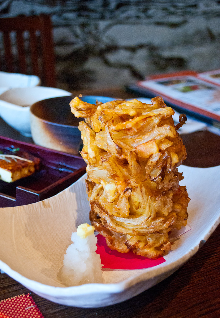 Tsukuneya Onion Shrimp Tempura