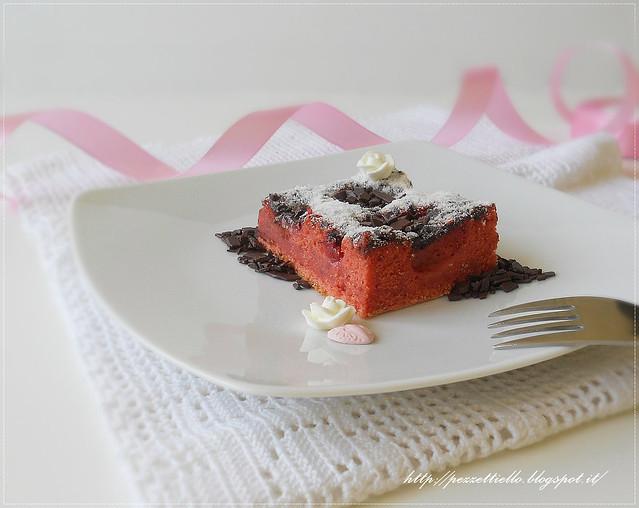 torta di fragola con cocco