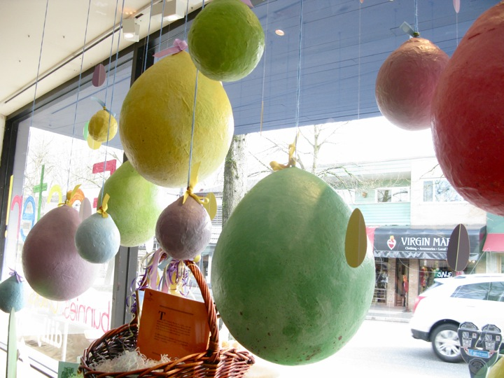 paper mache easter egg window 007