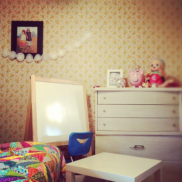 Girls room. Or Aunt Mabel's room.