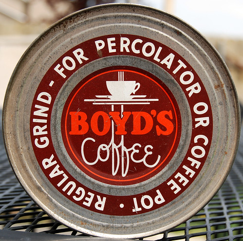 Boyd's Coffee Lid, 1940's by Roadsidepictures