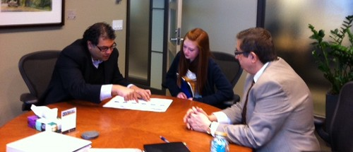 Mayor Nenshi, City Manager Tobert, and Mayor for a Day Gustavson