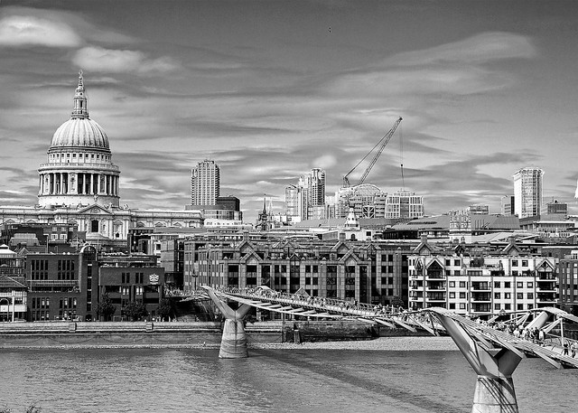 London skyline in black and white | Flickr - Photo Sharing!  London Skyline Black And White