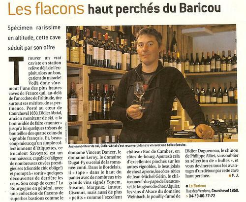 Le Baricou - L'Express (2006) - Les flacons haut perchés du Baricou