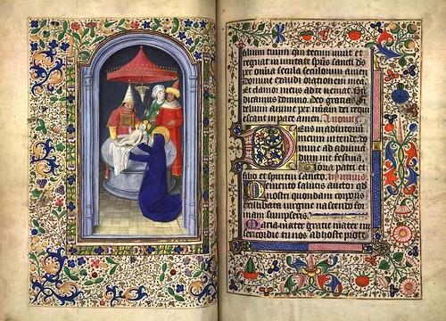 010-Presentacion de Jesus en el templo-Fol. 75 verso-Heures d'Isabeau de Roubaix- Bibliothèque numérique de Roubaix  MS 6