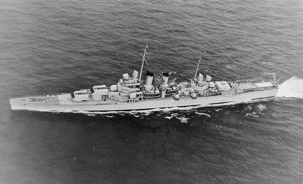 Heavy Cruiser USS Wichita (CA-45)  Atlantic Ocean 1 May 1940