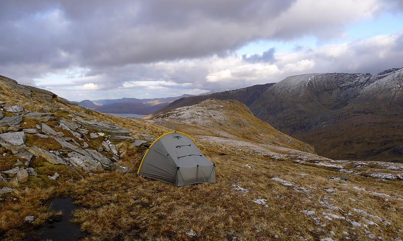 Wild camping above Loch Monar