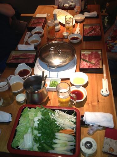 Shabu-shabu en Kyoto