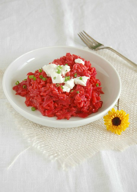Beetroot risotto with goat's cheese / Risoto de beterraba com queijo ...