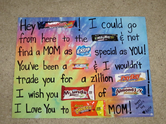 Mother s day candy bar poster flickr photo sharing