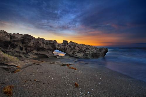 sunrise cloudy palmbeach blowingrocks jupiterbeach