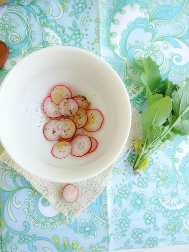 roasted garden radish salad