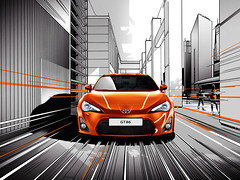 [Free Images] Transportation, Cars, Graphics, Illustration, Toyota, Toyota 86, Graphics - Transportation ID:201205220000