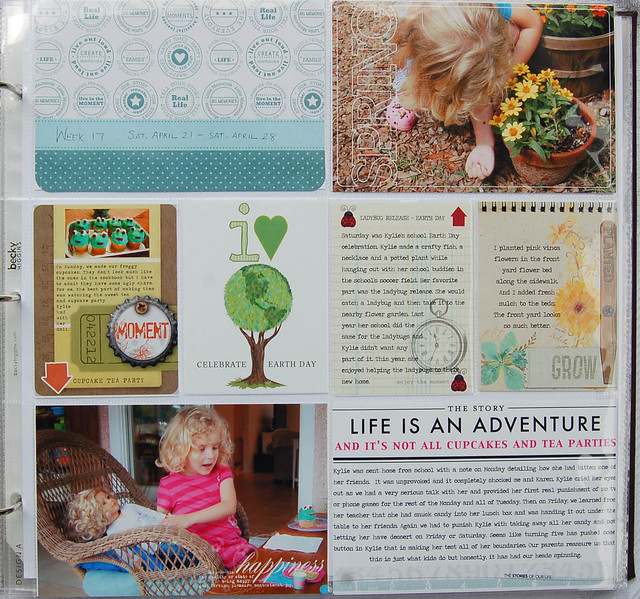 Project Life Week 17, page 1