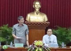 Trưởng Ban Tuyên giáo Trung ương Đinh Thế Huynh làm việc với Ban Thường vụ Thành uỷ Cần Thơ