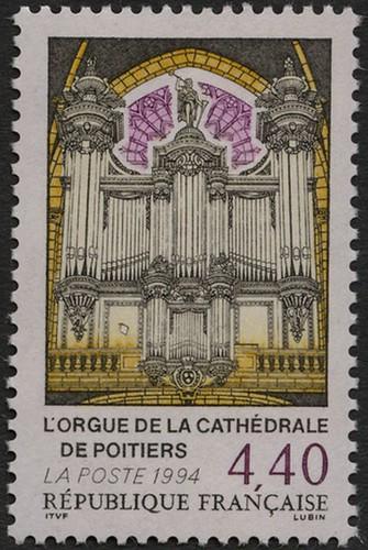 L'orgue de la cathédrale de Poitiers.