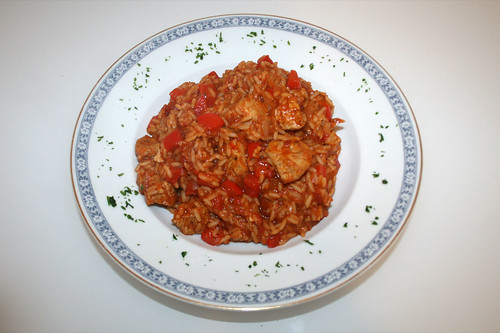 31 - Serbisches Reisfleisch / Rice with meat & paprika - Serviert