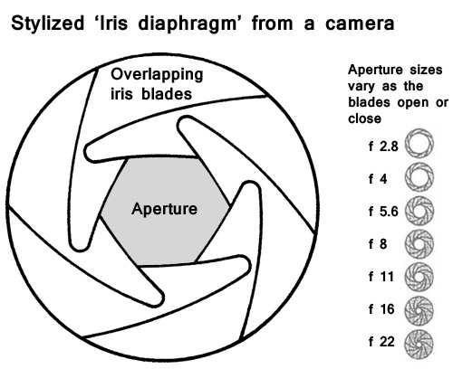 An 'Iris Diaphragm' as used in modern DSLR cameras.