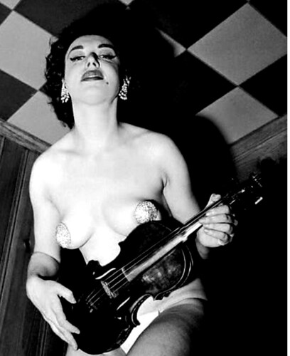 Paula Uhsan, burlesque & nightclub entertainer c. 1959 - or 60 by Jack's Movie Mania
