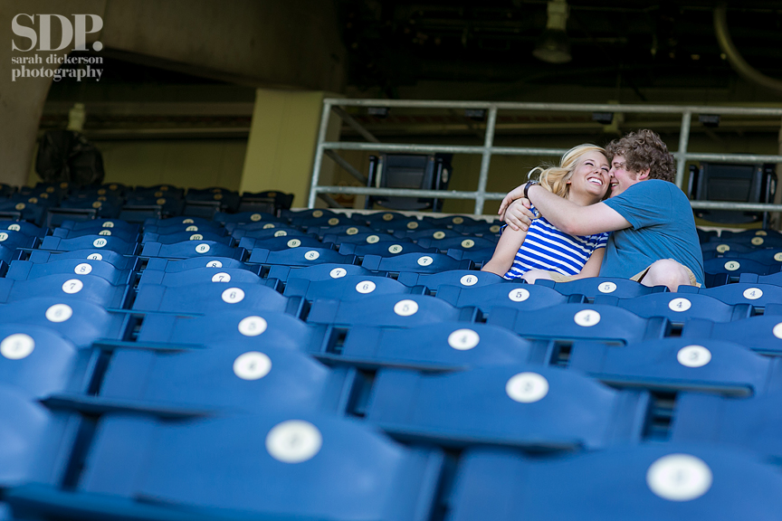 Kauffman Stadium engagement session