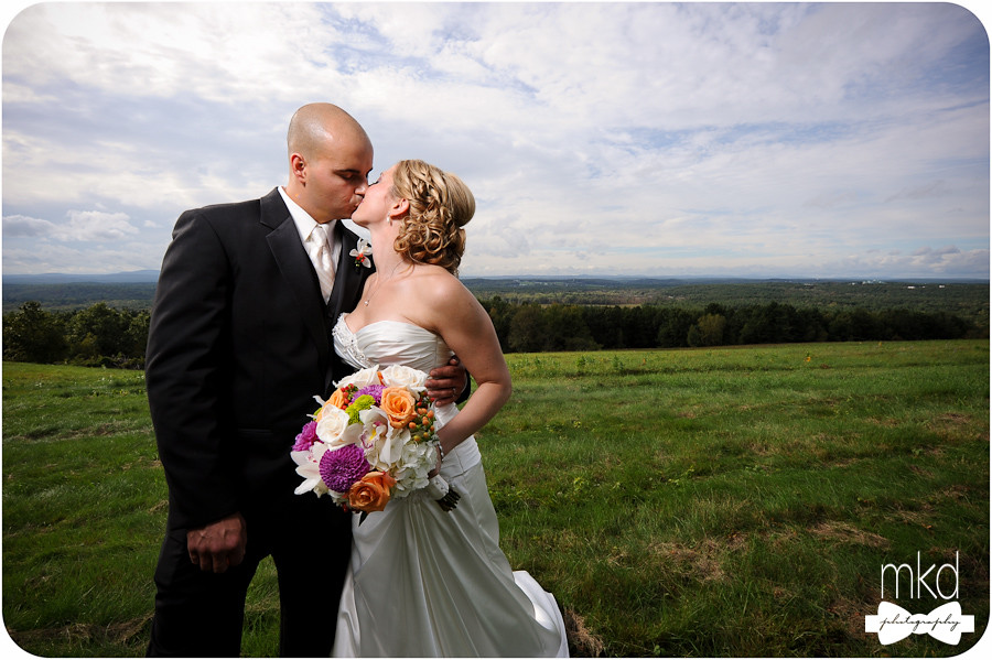 Wedding Kiss at Prospect Hill - Harvard, MA