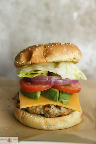Blue Cheese Stuffed Turkey Burger