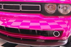 stock car racing(0.0), rim(0.0), vehicle registration plate(0.0), automobile(1.0), automotive exterior(1.0), wheel(1.0), vehicle(1.0), automotive design(1.0), grille(1.0), dodge challenger(1.0), bumper(1.0), luxury vehicle(1.0),