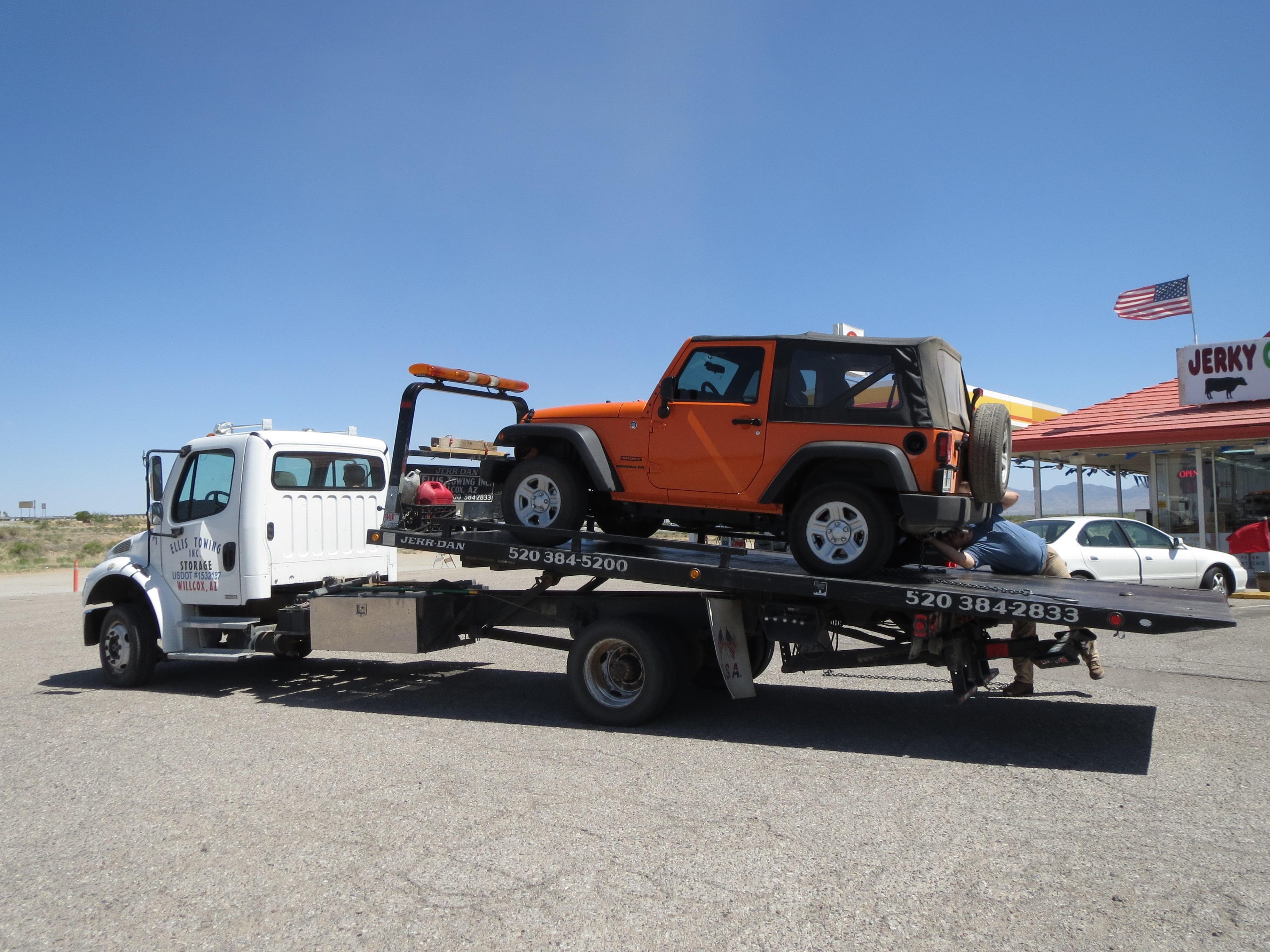 Flat Tire Tow Truck