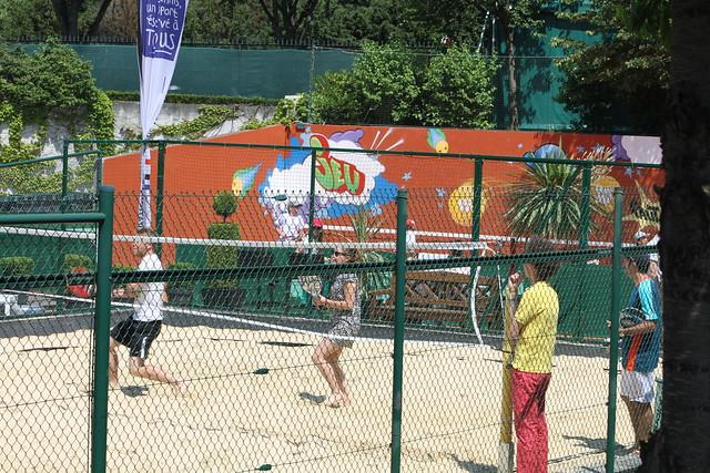 Beach tennis at Roland Garros