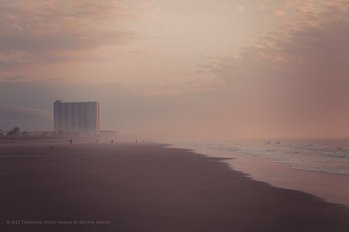 vacation usa seascape beach beautiful fog sunrise dawn myrtlebeach moody unitedstates southcarolina naturallight dreamy fullframe atlanticocean bodiesofwater marinescenes goldenhour circularpolarizer surfsidebeach diminishingperspective photomatixpro canonef24105mmf4lis hoyacircularpolarizer alienskinexposure canoneos5dmkii adobephotoshopcs5 thousandwordimages adobelightroom4 dustinabbott