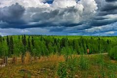 Alaska in green
