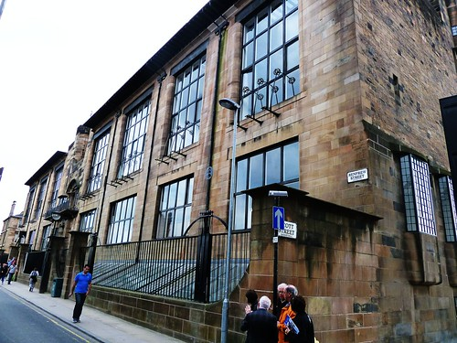 Front or northern facade of Glasgow School of Art